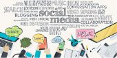 stock photo of promoter  - Various terms related to social media - JPG