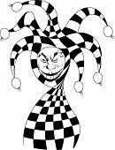 stock photo of joker  - Joker game card with the image of the red and white joker - JPG