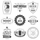picture of beer mug  - Retro set styled label of beer - JPG