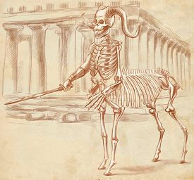 foto of centaur  - Illustration of a series of legendary animals and monsters  - JPG