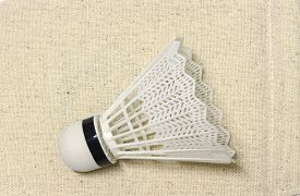 foto of game-cock  - equipment badminton Shutter Cock on a white background, ** Note: Soft Focus at 100%, best at smaller sizes - JPG
