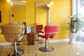 pic of beauty salon interior  - blur salon room interior abstract background small shop - JPG