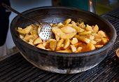 picture of boil  - Boiled potato in clay pot prepared in fat on Balkan way - JPG
