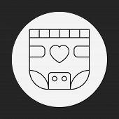 stock photo of diaper  - Baby Diaper Line Icon - JPG