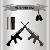 image of veterans  - american veterans day celebration in grayscale eps10 - JPG