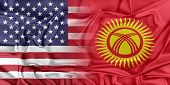 Постер, плакат: USA and Kyrgyzstan