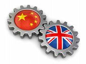 picture of snatch  - Chinese and UK flags on a gears - JPG