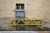 picture of windows doors  - brown europe italy lombardy in the milano old window closed brick abstract grate door terrace - JPG