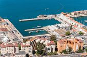 picture of gibraltar  - Aerial view over port city and straits of Gibraltar - JPG