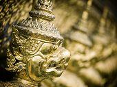 picture of garuda  - Grand palace Garuda Wat Phra Kaew Bangkok Thailand - JPG