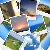 picture of polaroid  - Polaroid photos abstract background - JPG