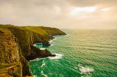image of atlantic ocean  - Irish landscape - JPG