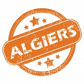 foto of algiers  - Round rubber stamp with city name Algiers and stars - JPG