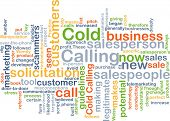 picture of soliciting  - Background concept wordcloud illustration of cold calling - JPG