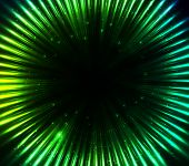 stock photo of cosmic  - Green shining cosmic lights vector abstract background - JPG