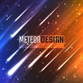 picture of meteors  - Colorful background with Shining Neon Lights Like flying Meteors - JPG