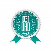 foto of special day  - Best dad award ribbon rosette with text specially for father - JPG