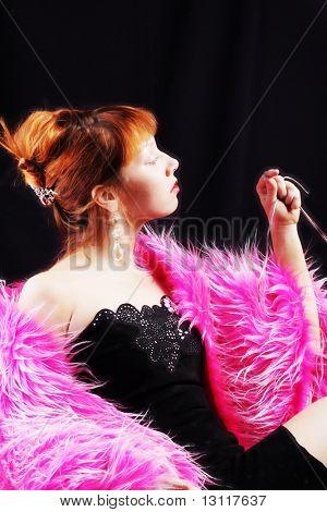 Постер, плакат: Портрет стиле профессиональной модели Снят в студии , холст на подрамнике
