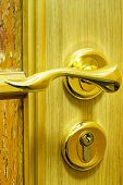 stock photo of door-handle  - Door handle - JPG