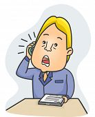 Illustration of a Literary Agent Talking Over the Phone poster