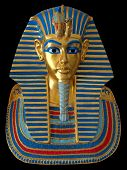 Постер, плакат: Золотая маска древний египетский фараон
