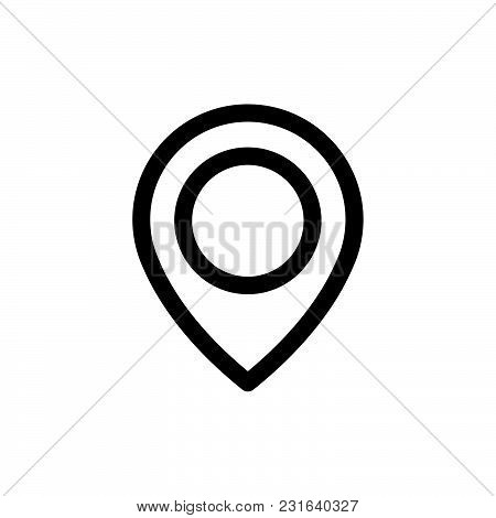Gps Icon Isolated On White Background Gps Icon Modern Symbol For