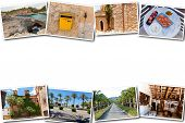 The Collage From Views Of Palma De Mallorca, Spain. Collage Travel Spain Palma De Mallorca On A Whit poster