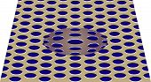 Movement Effect Of Sphere. Sphere Rolls Along Surface. Abstract Background With Optical Illusion Of  poster