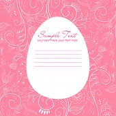 stock photo of pasqua  - Easter greeting card with decorative egg - JPG