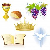 stock photo of triquetra  - Christian icons - JPG