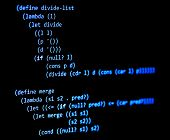 Functional Programming Code -  Declarative Paradigm, Lambda Calculus, Blue Color poster