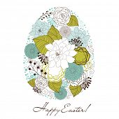 foto of pasqua  - Cute easter egg made from flowers - JPG