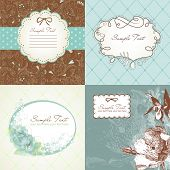 picture of greeting card design  - Set of cute greeting cards - JPG