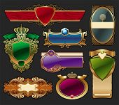 Set of golden luxury framed label. (Vector version of this work is available in my portfolio: # 6505 poster