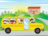 Постер, плакат: На пути в школу