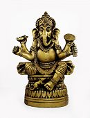 image of laddu  - Statue of Hindu God Ganesh isolated over white - JPG
