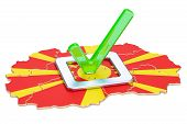 Macedonian Election Concept, Vote In Macedonia, 3d Rendering Isolated On White Background poster