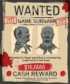 Vintage Wanted Poster With Hand Drawn Grunge Lettering. Stamp Words Made From Unique Letters. Beauti poster