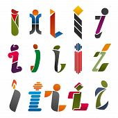 Постер, плакат: I Letter Icons Template For Corporate Or Business Company And Brand Name Emblem Vector Letter I Set