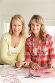 picture of middle-age  - Mid age women scrapbooking - JPG