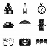 Slackness Icons Set. Simple Set Of 9 Slackness Vector Icons For Web Isolated On White Background poster
