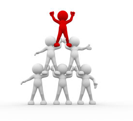 picture of human pyramid  - 3d people - JPG
