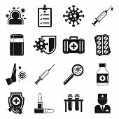 Immunization Icons Set. Simple Set Of Immunization Vector Icons For Web Design On White Background poster