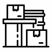 Homeless Object Boxes Icon. Outline Homeless Object Boxes Vector Icon For Web Design Isolated On Whi poster