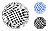 Abstract Dotted Sphere Composition Of Round Dots In Different Sizes And Color Tinges, Based On Abstr poster