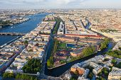 Panorama Of Saint Petersburg. View From The Height Of The City Center. Panorama Of New Holland. Brid poster