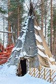 Suomi Traditional House Santa Claus Village Lapland Scandinavia poster