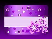Постер, плакат: фиолетовый Подарочная карта