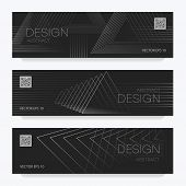 Abstract Brochure Linear Design. Black And White Stylish Brochure Design. Creative Backgrounds With  poster