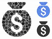 Financial Capital Composition Of Round Dots In Various Sizes And Color Tones, Based On Financial Cap poster